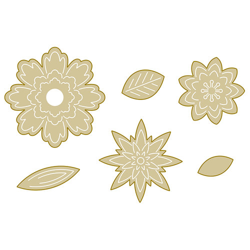 Spellbinders - Silver and Gold Collection - Die - Flower Fold