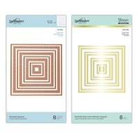 Spellbinders - Glimmer Hot Foil - Duo Lines Glimmer Plates and Etched Dies - Essential Squares