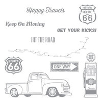 Fun Stampers Journey - Cling Rubber Stamps - Hit the Road