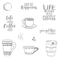 Fun Stampers Journey - Cling Rubber Stamps - Coffee Helps