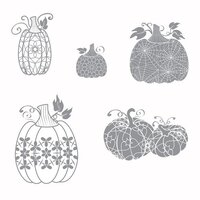 Fun Stampers Journey - Cling Rubber Stamps - Martha's Pumpkins