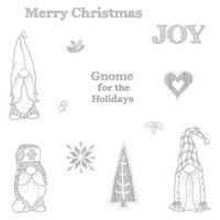 Fun Stampers Journey - Christmas - Cling Rubber Stamps - Gnome for the Holidays