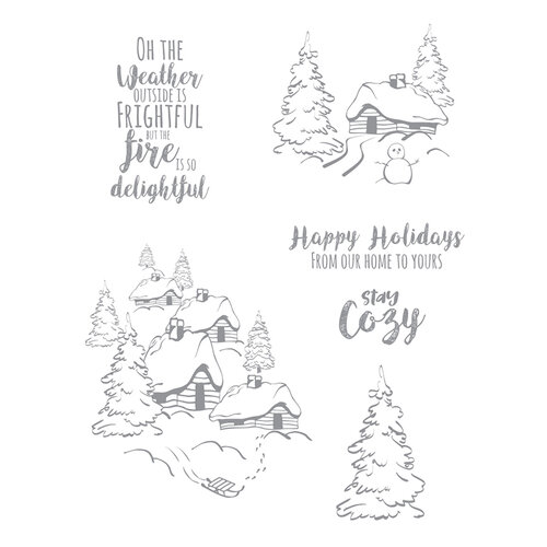 Fun Stampers Journey - Christmas - Cling Rubber Stamps - Stay Cozy