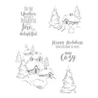 Fun Stampers Journey - Christmas - Clear Photopolymer Stamps - Stay Cozy