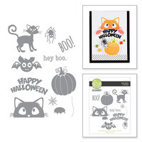 Fun Stampers Journey - Cling Rubber Stamps - Hey Boo