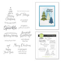 Fun Stampers Journey - Christmas - Cling Rubber Stamps - Christmas Inside and Out