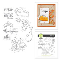 Fun Stampers Journey - Cling Rubber Stamps - Happy Feast