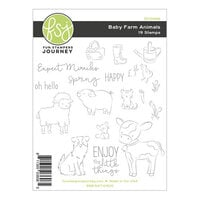 Fun Stampers Journey - Kindness Matters Collection - Cling Mounted Rubber Stamps - Baby Farm Animals
