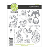 Fun Stampers Journey - Ready Set Spring Collection - Cling Mounted Rubber Stamps - Joyful Greetings