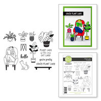 Fun Stampers Journey - Take Time For You Collection - Clear Photopolymer Stamps - Plant Lady