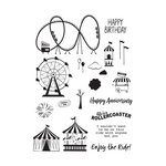 Fun Stampers Journey - Happy Place Collection - Cling Mounted Rubber Stamps - Enjoy the Ride