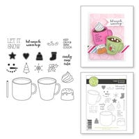 Fun Stampers Journey - Christmas - Clear Photopolymer Stamps - Cups of Cocoa