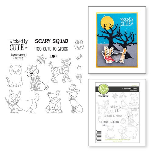 Fun Stampers Journey - Clear Photopolymer Stamps - Costumed Cuties