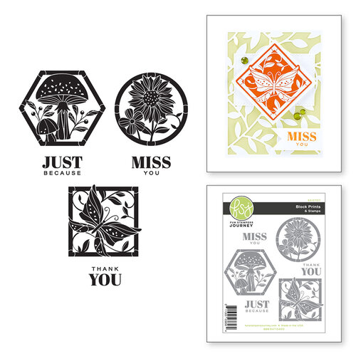 Fun Stampers Journey - Buzzworthy Collection - Clear Photopolymer Stamps - Block Prints