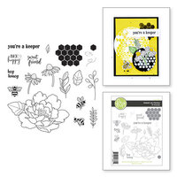 Fun Stampers Journey - Buzzworthy Collection - Clear Photopolymer Stamps - Sweet as Honey