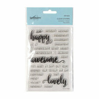 Spellbinders - Clear Acrylic Stamps - Happy Sentiments