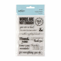 Spellbinders - Clear Acrylic Stamps - Words Are Not Enough