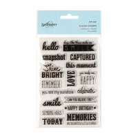 Spellbinders - Clear Acrylic Stamps - Captured Sentiments