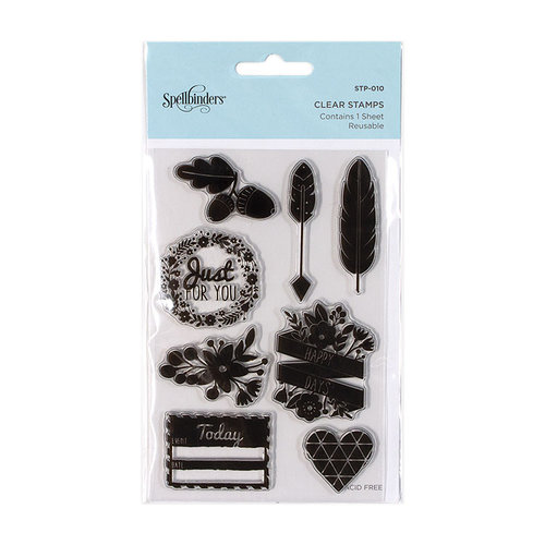 Spellbinders - Clear Acrylic Stamps - Just for You