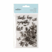 Spellbinders - Clear Acrylic Stamps - Floral Love