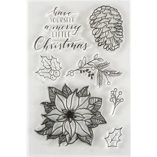 Spellbinders - Clear Acrylic Stamps - Merry Little Christmas