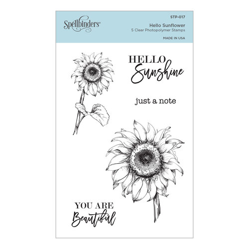 Spellbinders - Cardmaker Stamp Collection - Clear Photopolymer Stamps - Hello Sunflower
