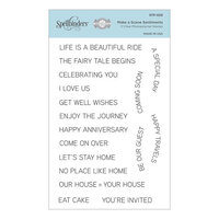 Spellbinders - Make a Scene Collection - Clear Photopolymer Stamps - Make a Scene Sentiments