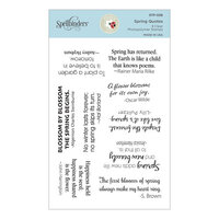 Spellbinders - Susan's Spring Flora Collection - Clear Photopolymer Stamps - Spring Quotes