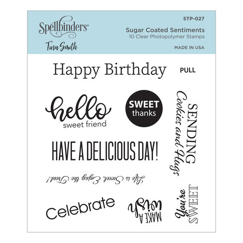 Spellbinders - Sweet Street Collection - Clear Photopolymer Stamps - Sugar Coated Sentiments