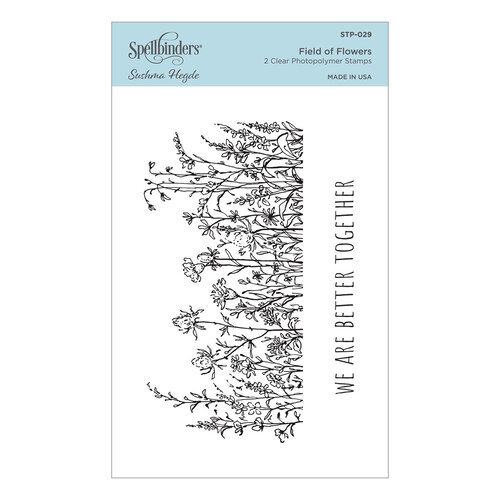 Spellbinders - Watercolor Florals Collection - Clear Photopolymer Stamps - Field of Flowers