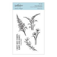 Spellbinders - Watercolor Florals Collection - Clear Photopolymer Stamps - Floral Beauties