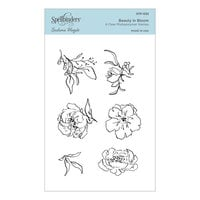 Spellbinders - Watercolor Florals Collection - Clear Photopolymer Stamps - Beauty in Bloom