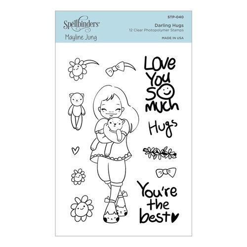 Spellbinders - Delightful Darlings Collection - Clear Photopolymer Stamps - Darling Hugs