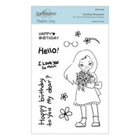 Spellbinders - Delightful Darlings Collection - Clear Photopolymer Stamps - Darling Bouquet