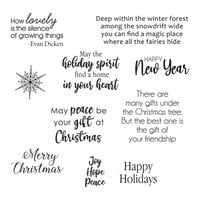 Spellbinders - Susan's Holiday Flora Collection - Christmas - Clear Photopolymer Stamps - Holiday Quotes