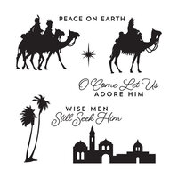 Spellbinders - Christmas Traditions Collection - Clear Photopolymer Stamps - Three Kings