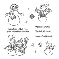 Spellbinders - Be Merry Collection - Clear Photopolymer Stamps - Christmas - Friendly Snowmen