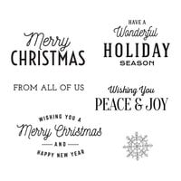 Spellbinders - Christmas Traditions Collection - Clear Photopolymer Stamps - Christmas Time Sentiments