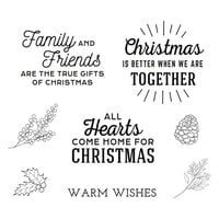 Spellbinders - Be Merry Collection - Clear Photopolymer Stamps - Home For Christmas Sentiments