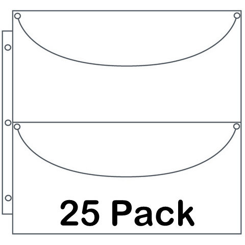 Totally Tiffany - Multicraft Storage System - Double X-Long Basic Storage Pages - 25 Pack