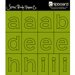 Scenic Route Paper - Chipboard Stencils - Redmond Clover Alphabet