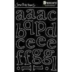 Scenic Route Paper - Chipboard Stencils - Capital Hill Lower Alphabet - Black