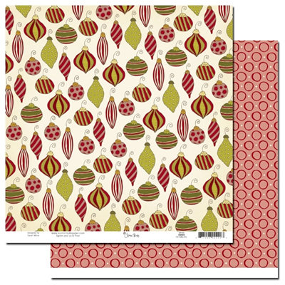 Scenic Route Paper - Garland Collection - Christmas - 12 x 12 Double Sided Paper - Old Valley Ave., CLEARANCE
