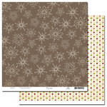 Scenic Route Paper - Garland Collection - Christmas - 12 x 12 Double Sided Paper - Oliver Hill Road, CLEARANCE