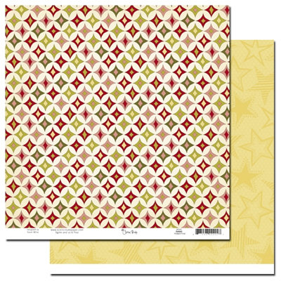 Scenic Route Paper - Garland Collection - Christmas - 12 x 12 Double Sided Paper - Howard Road, CLEARANCE