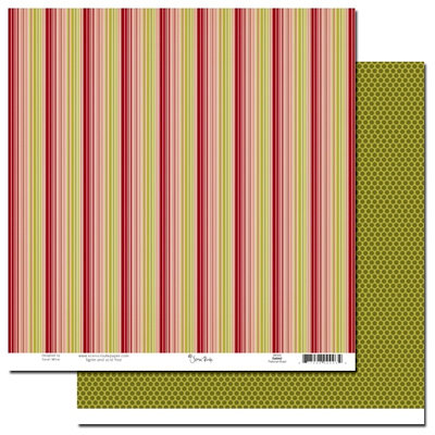 Scenic Route Paper - Garland Collection - Christmas - 12 x 12 Double Sided Paper - Parkman Road
