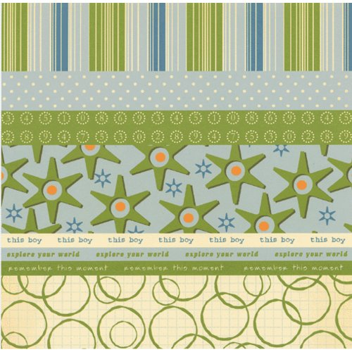 Scenic Route Paper - Designer Scrap Strips - Double Sided Cardstock - Hampton 1, CLEARANCE