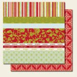 Scenic Route Paper - Rockland Collection - Christmas - 12x12 Doublesided Cardstock - Scrap Strip 3, CLEARANCE