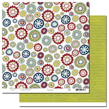 Scenic Route Paper - Appleton Collection - 12x12 Double Sided Paper - 4th Street - School, CLEARANCE