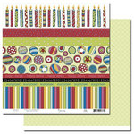 Scenic Route Paper - Surprise Collection - 12 x 12 Double Sided Paper - Scrap Strip, CLEARANCE